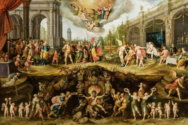 Wall Art - Painting - Mankind's Eternal Dilemma, The Choice Between Virtue And Vice, 1633 by Frans Francken the Younger