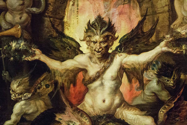 Virtue Painting - Mankind's Eternal Dilemma, The Choice Between Virtue And Vice - Satan by Frans Francken the Younger