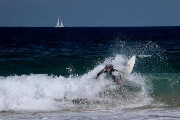 Photograph - Manly Beach Surfer by Sarah Lilja
