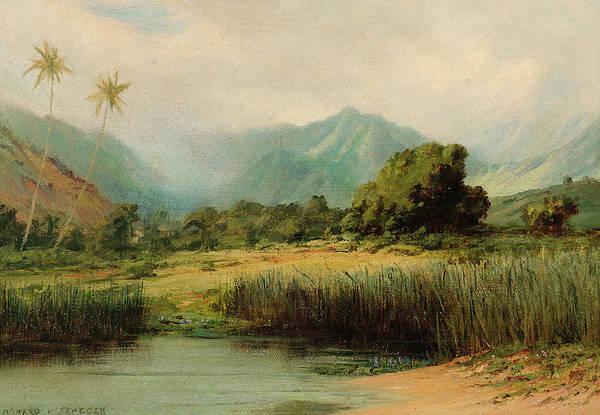 Howard Painting - Manoa Valley, Oahu by David Howard Hitchcock