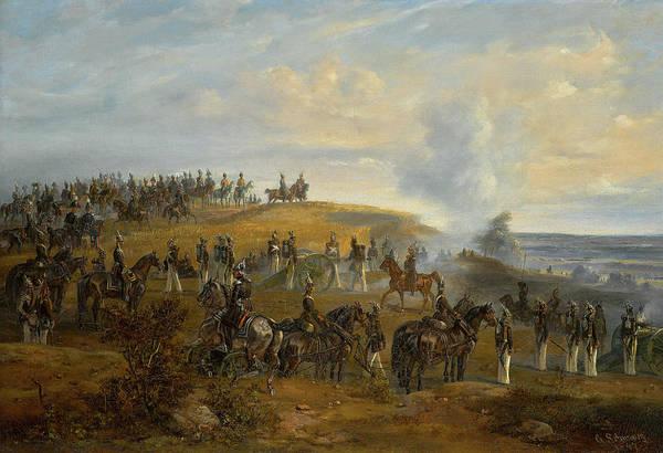 Irregular Painting - Manoeuvres Near Pavlovskoe, 3 August, 1846 by Otto Gottlieb Schwarz