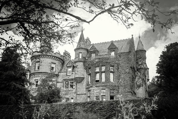 Wall Art - Photograph - Mansion House Edinburgh Scotland Black And White by Carol Japp