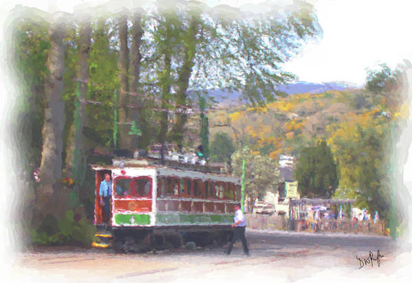 Wall Art - Digital Art - Manx Electric Railway Mountain Tram Leaves Laxey by Digital Painting