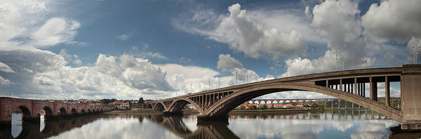 Berwick Upon Tweed Photograph - Many Bridges With Clouds Reflected In by John Short / Design Pics