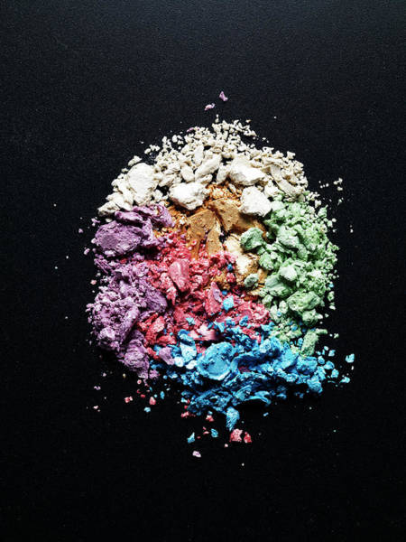Make Up Photograph - Many Kinds Of Crashed Eye Shadows by Level1studio