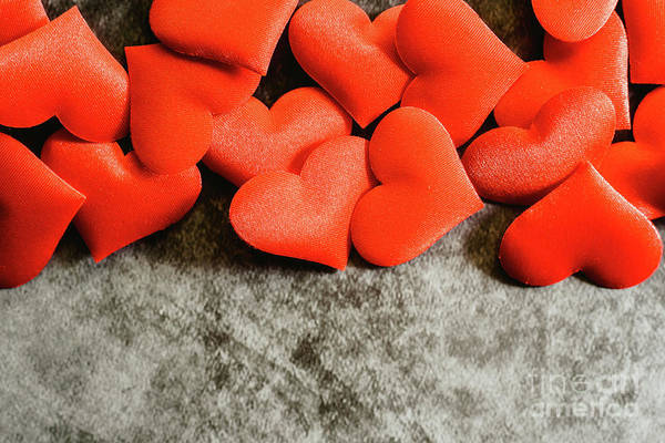 Photograph - Many Red Hearts Isolated To Use Background On Valentine's Day. by Joaquin Corbalan