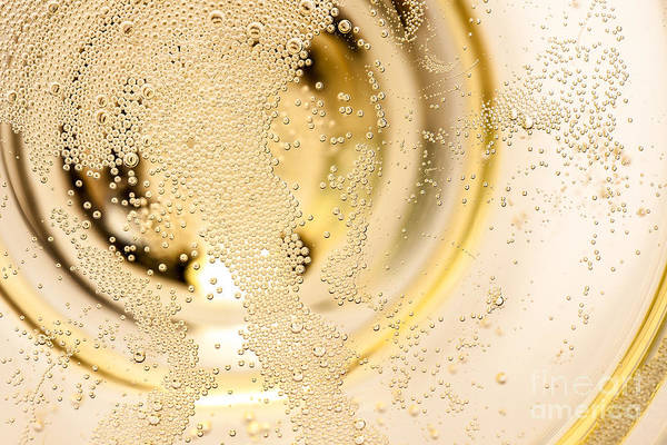 Wall Art - Photograph - Many Tiny Bubbles In A Champagne Glass by Unpict