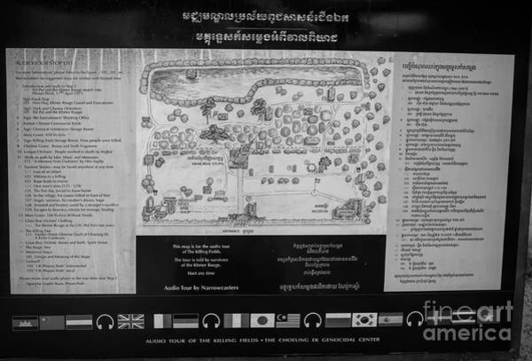 Wall Art - Photograph - Map Layout Of The Killing Fields  by Chuck Kuhn