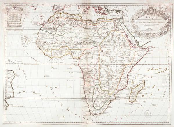 Color Image Digital Art - Map Of Africa by Fototeca Gilardi