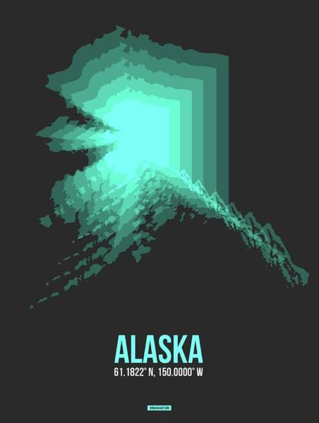 Wall Art - Digital Art - Map Of Alaska 2 by Naxart Studio