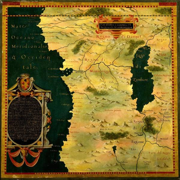 Photograph - Map Of Angola 1580 by Andrew Fare