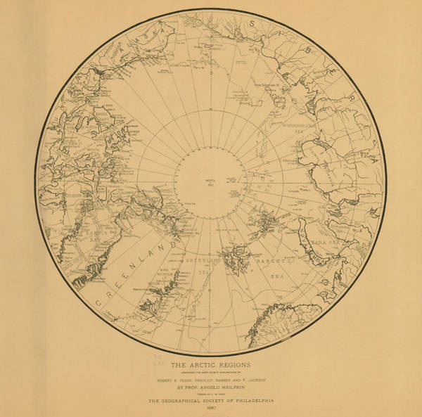 Archival Digital Art - Map Of Arctic Regions 1897 by Historic Map Works Llc