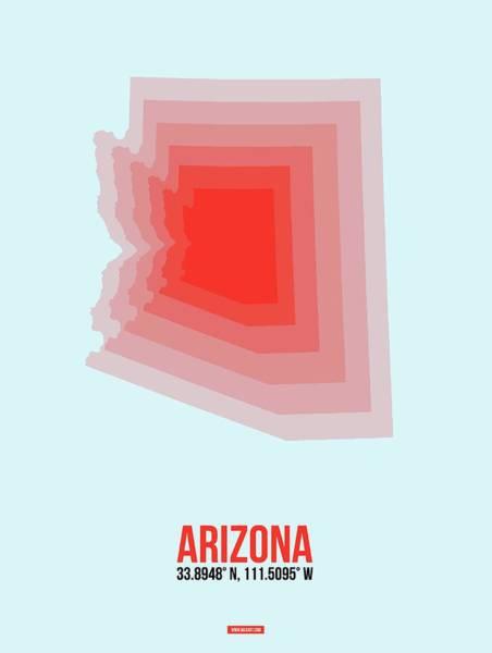 Wall Art - Digital Art - Map Of Arizona by Naxart Studio