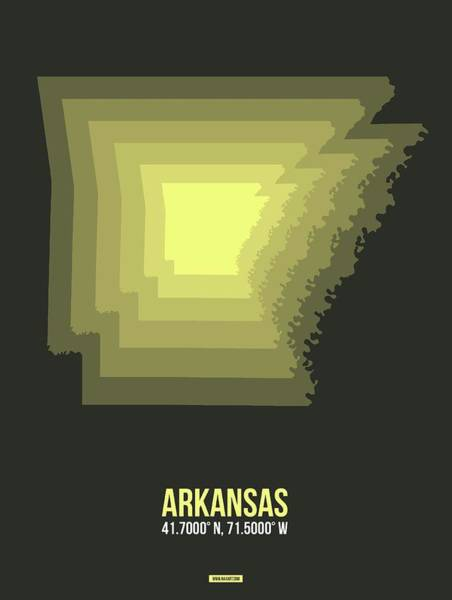 Wall Art - Digital Art - Map Of Arkansas 2 by Naxart Studio