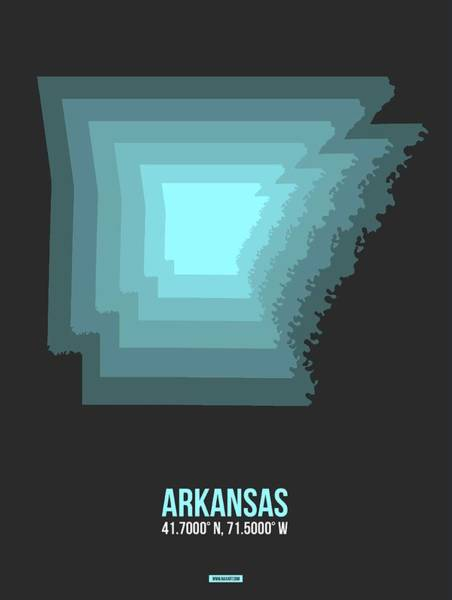 Wall Art - Digital Art - Map Of Arkansas by Naxart Studio