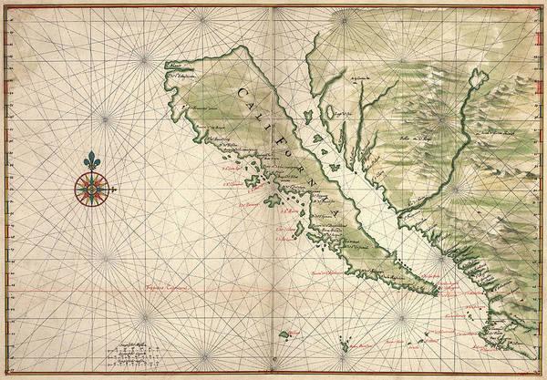 Wall Art - Photograph - Map Of California As An Island Unto Itself By Joan Vinckeboons C. 1650 by Daniel Hagerman