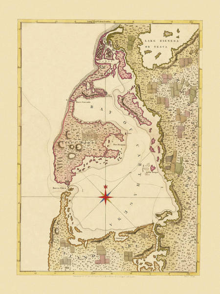 Photograph - Map Of Cartagena 1771 by Andrew Fare