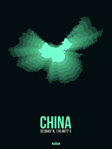 Wall Art - Digital Art - Map Of China 3 by Naxart Studio