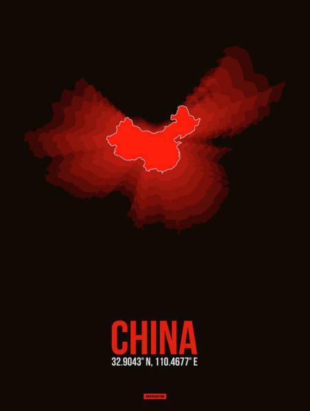 Wall Art - Digital Art - Map Of China by Naxart Studio