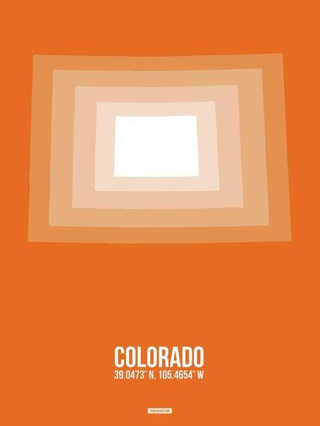 Wall Art - Digital Art - Map Of Colorado by Naxart Studio