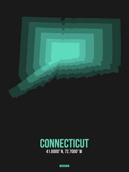 Wall Art - Digital Art - Map Of Connecticut 3 by Naxart Studio