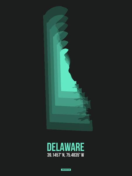Wall Art - Digital Art - Map Of Delaware 1 by Naxart Studio