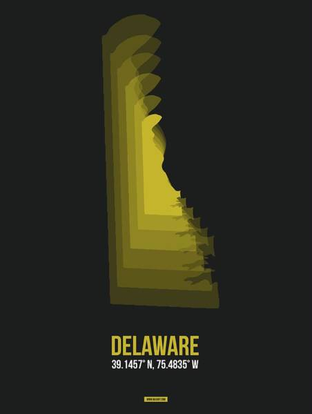 Wall Art - Digital Art - Map Of Delaware 3 by Naxart Studio
