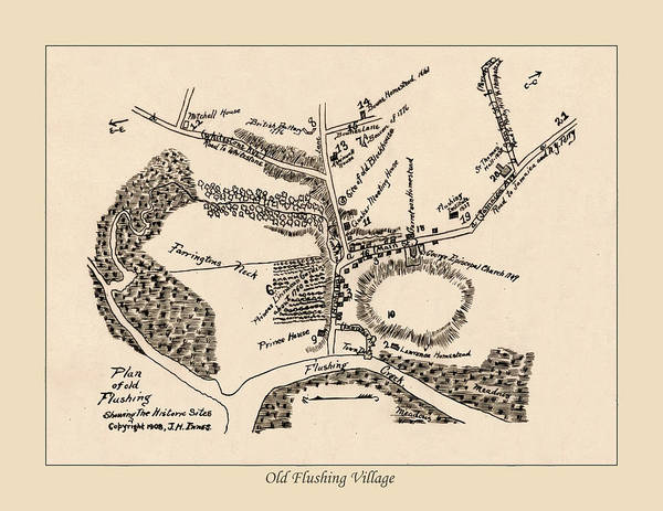 Wall Art - Photograph - Map Of Flushing by Andrew Fare