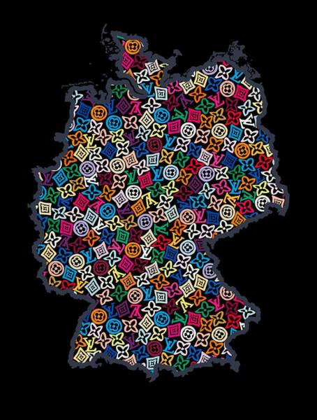 Wall Art - Painting - Map Of Germany-2 by Nikita
