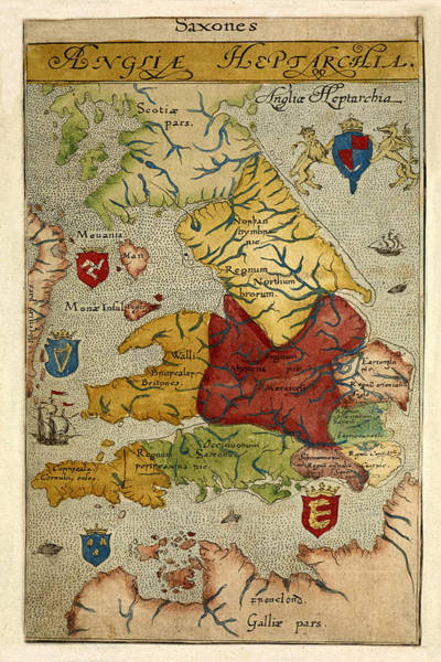 Photograph - Map Of Great Britain 1574 by Andrew Fare