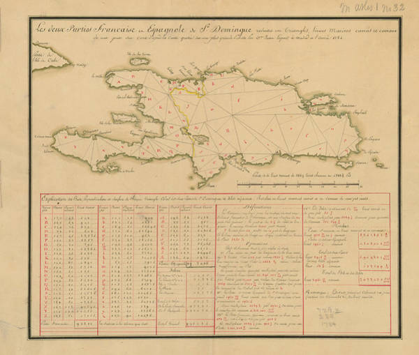 Color Image Digital Art - Map Of Hispaniola In 1784 by Historic Map Works Llc