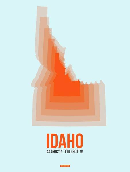 Wall Art - Digital Art - Map Of Idaho by Naxart Studio
