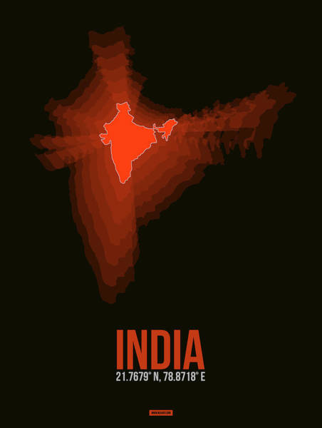 Wall Art - Digital Art - Map Of India by Naxart Studio