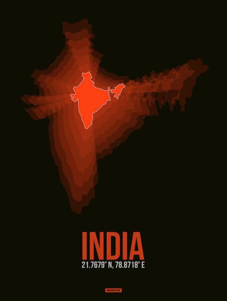 Hue Wall Art - Digital Art - Map Of India by Naxart Studio