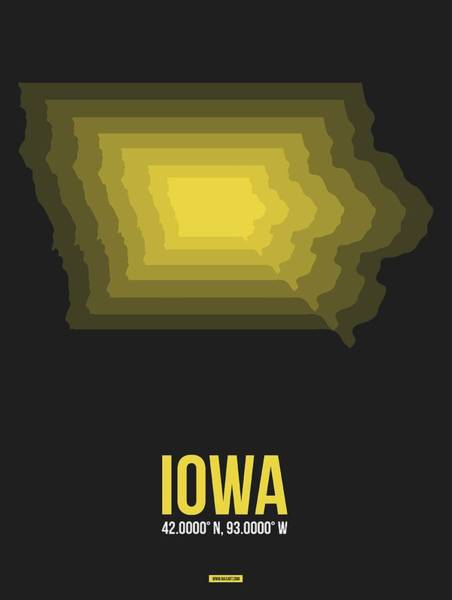 Wall Art - Digital Art - Map Of Iowa by Naxart Studio