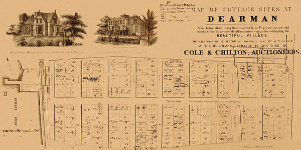 Wall Art - Photograph - Map Of Irvington 1854 by Andrew Fare
