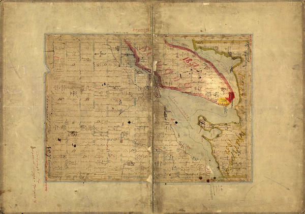 Photograph - Map Of Lake Scugog by Andrew Fare