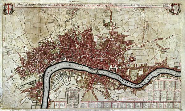 Wall Art - Photograph - Map Of London by Jon Neidert
