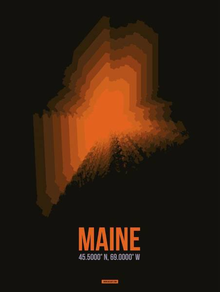 Wall Art - Digital Art - Map Of Maine 1 by Naxart Studio