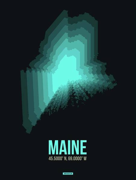 Wall Art - Digital Art - Map Of Maine 2 by Naxart Studio