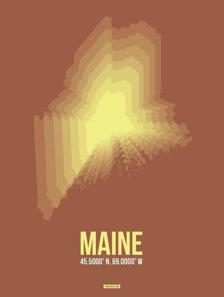 Wall Art - Digital Art - Map Of Maine by Naxart Studio