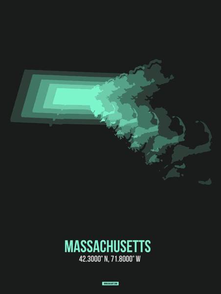 Wall Art - Digital Art - Map Of Massachusetts 3 by Naxart Studio