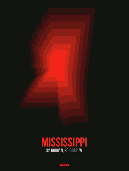 Wall Art - Digital Art - Map Of Mississippi 4 by Naxart Studio