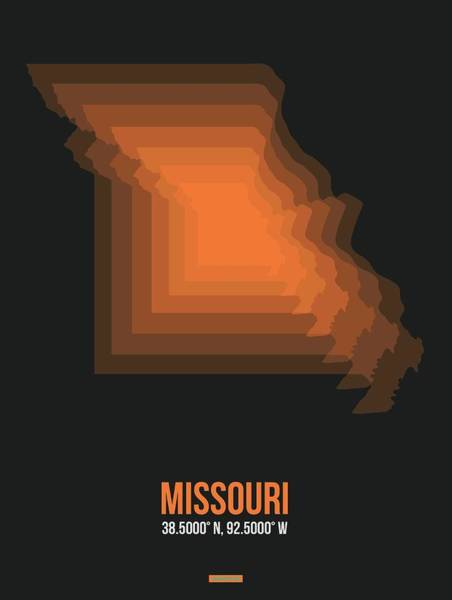 Wall Art - Digital Art - Map Of Missouri 1 by Naxart Studio