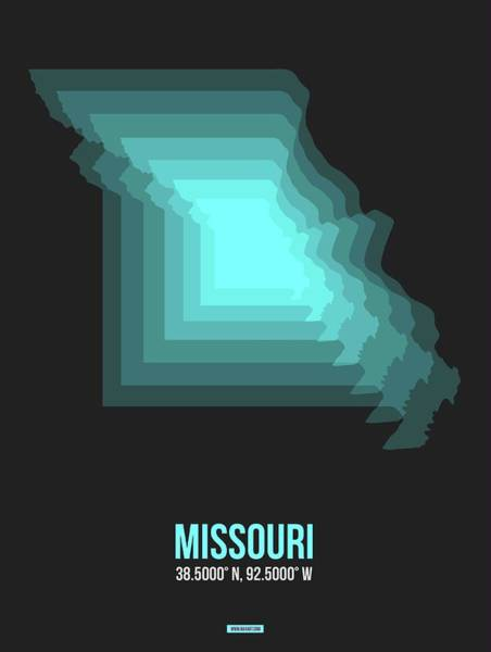 Wall Art - Digital Art - Map Of Missouri 2 by Naxart Studio