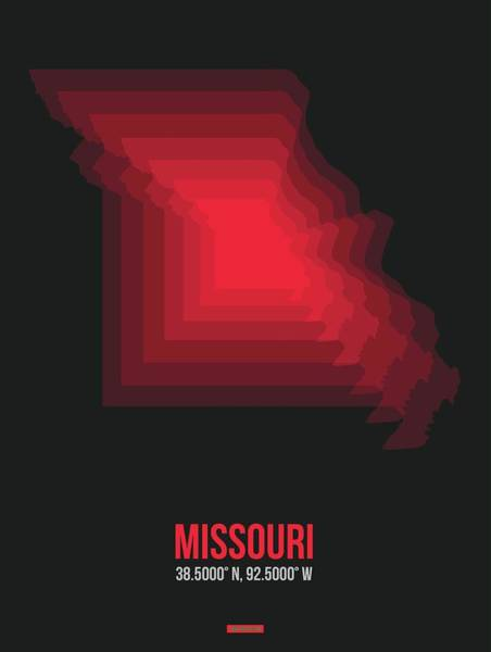 Wall Art - Digital Art - Map Of Missouri 4 by Naxart Studio