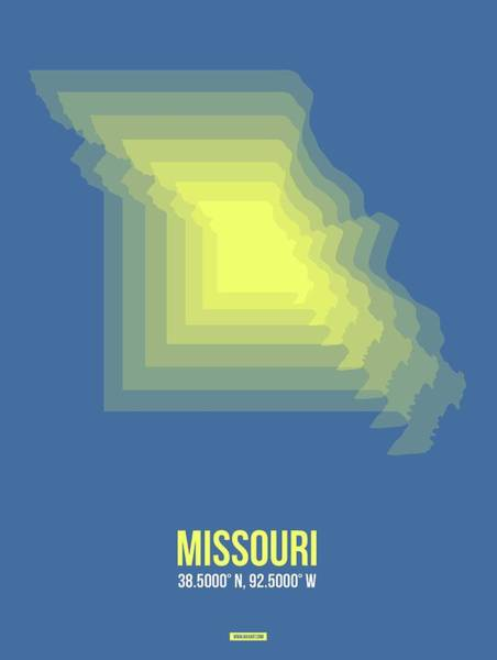 Wall Art - Digital Art - Map Of Missouri by Naxart Studio