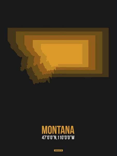 Wall Art - Digital Art - Map Of Montana 3 by Naxart Studio