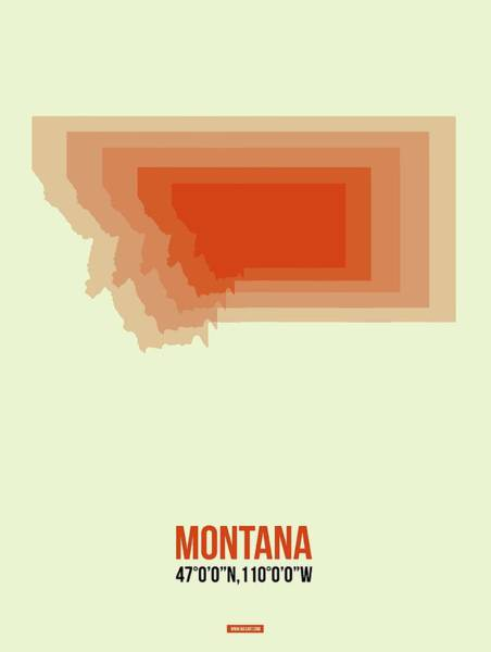 Wall Art - Digital Art - Map Of Montana by Naxart Studio