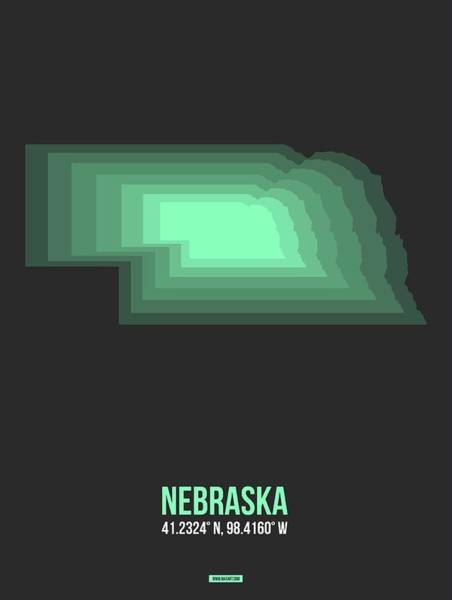 Wall Art - Digital Art - Map Of Nebraska 1 by Naxart Studio